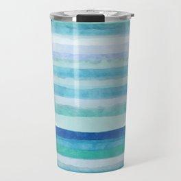 Blue ocean with blue sky Travel Mug