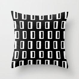 Chad Pattern Black & White 22 Throw Pillow