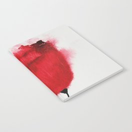 Single Poppy Madder Lake Red Light / Watercolor Painting Notebook