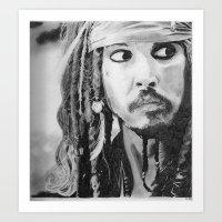 jack sparrow Art Prints featuring Jack Sparrow by Christie Rainey