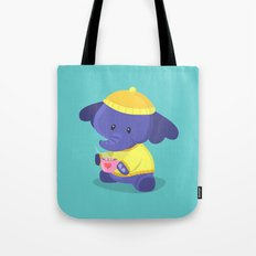 Elephant Winter Times Tote Bag