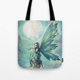 Winter Dream Fairy Fantasy Art Illustration Tote Bag
