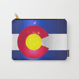 Colorado State Flag Glow Carry-All Pouch