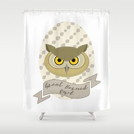 Señora Owl Shower Curtain