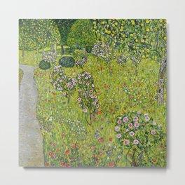 """Gustav Klimt """"Orchard with Roses (Obstgarten mit Rosen)"""" Metal Print"""
