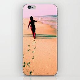 Footprints in Sand iPhone Skin