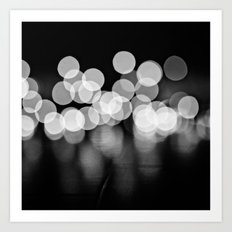 Lights in Black and White Art Print