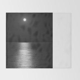 White Moon Throw Blanket