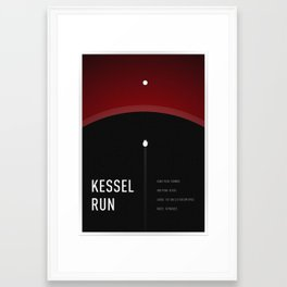 Kessel Run Framed Art Print