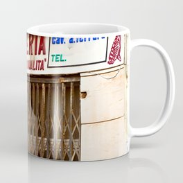 Old Sicilian Butcher Shop in Marsala Coffee Mug