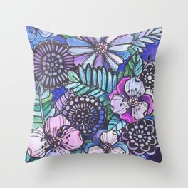 Midnight Jungle Throw Pillow