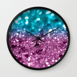 Tropical Beach Lady Glitter #5 #shiny #decor #art #society6 Wall Clock