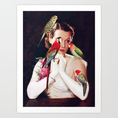 Bird Lady Art Print