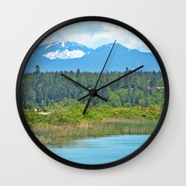 bc mountains Wall Clock