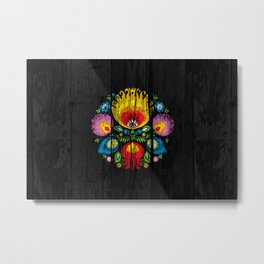 folk flower dark Metal Print