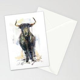 Black bull. Stationery Cards