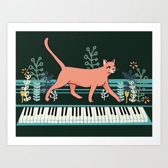 Kitten on the Keys Art Print