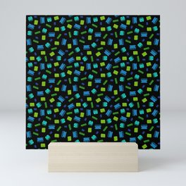 Op Amps - Color on Black Mini Art Print