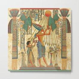 egyptian man sun god ra amun Metal Print