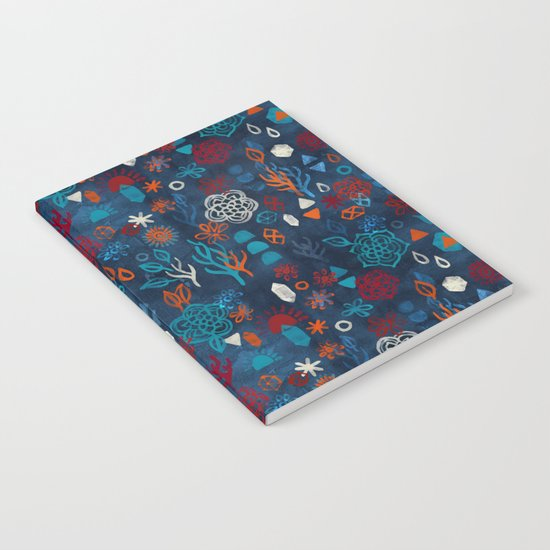 Earth, Water, Fire, Air - a watercolor pattern Notebook