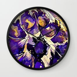 Purple Explosion Wall Clock
