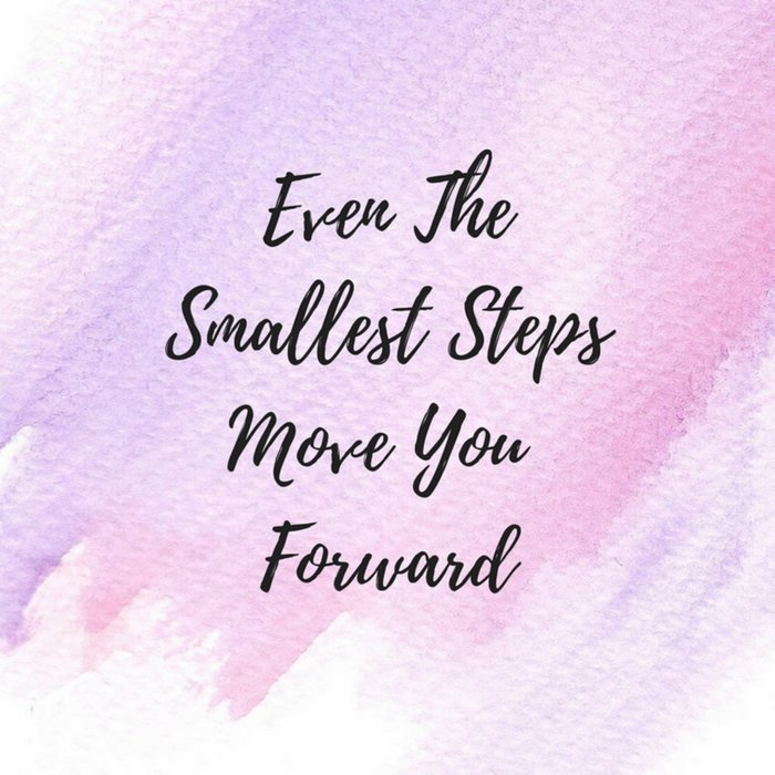 Even the smallest steps move you forward Comforters