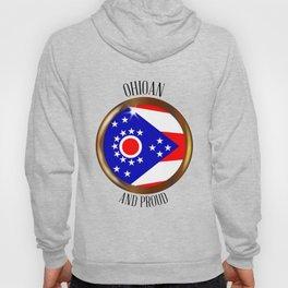 Ohio Proud Flag Button Hoody