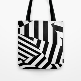 RADAR/ASDIC Black and White Graphic Dazzle Camouflage Tote Bag