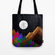Peaks at night Tote Bag