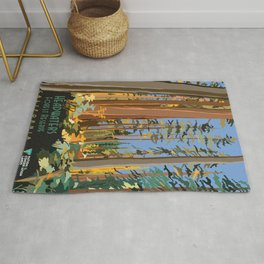 Vintage poster - Headwaters Forest Reserve Rug