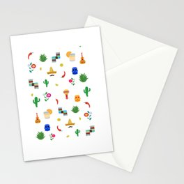 Mexican,colourful pattern art Stationery Cards