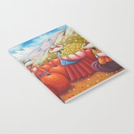 Peruvian Flower Sellers in the Andes Mountains Notebook