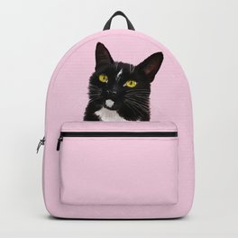 Black Cat in Pink Backpack