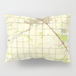 Madera, CA from 1947 Vintage Map - High Quality Pillow Sham