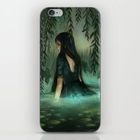 siren iPhone & iPod Skins featuring Siren by Olivia Chin Mueller