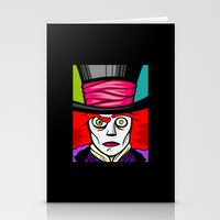 mad hatter Stationery Cards featuring Mad Hatter by Artistic Dyslexia