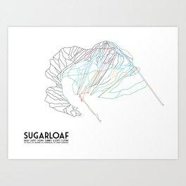 SugarLoaf, ME - Minimalist Trail Art Art Print