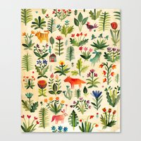 garden Canvas Prints featuring Garden by AITCH