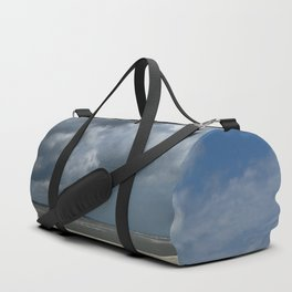 Dramatic Sky Over Golden Isles Beach Duffle Bag