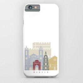 Rhodes skyline poster iPhone Case