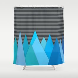 Blue Attack Shower Curtain