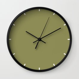 Green Olive | Pantone Fashion Color | Fall : Winter 2019-2020 | London | Solid Color Wall Clock