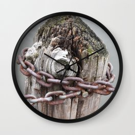 Chains and a Post Wall Clock