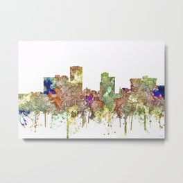Little Rock, Arkansas Skyline - Faded Glory Metal Print