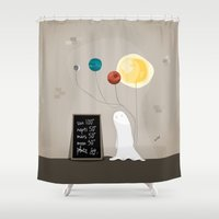 planet Shower Curtains featuring Planet by Jane Mathieu