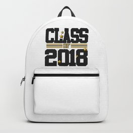 class of 2018 graduation grade senior 2018 new student love art gold hot Backpack