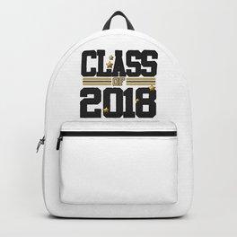 class of 2018 graduation grade senior 2018 new student love art gold hot Backpack