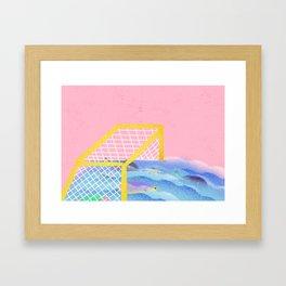 Brazil - caiu na rede é peixe Framed Art Print