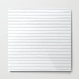 Gray Stripes Metal Print