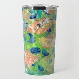 Just Because - Abstract floral Travel Mug